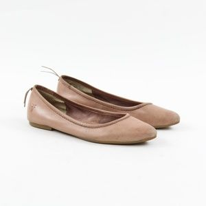 Frye Regina Ballet Flats Rose Gold Pointed Toe 6